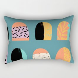 ABSTRACT COOL JUNGLE ARCHWAY PATTERN Rectangular Pillow