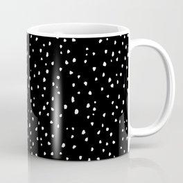 Small Spots White On Black Coffee Mug
