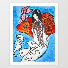 The Sea King's Daughter #society6 #decor #buyart Art Print