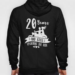 20th 20 year Wedding Anniversary Gift Ride Husband Wife graphic Hoody