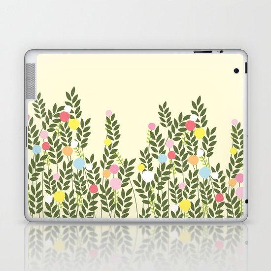 graphic flowers Laptop & iPad Skin