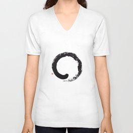 Enso / Japanese Zen Circle Unisex V-Neck