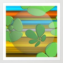 GREEN FLOWER IN POMP Art Print