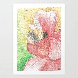 Bee Butt in a Flower Art Print
