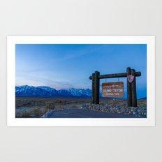 Welcome to Grand Teton  Art Print