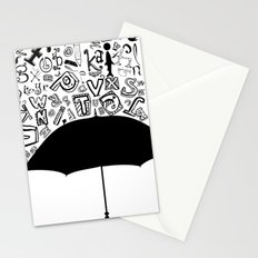 Letter Rain Stationery Cards