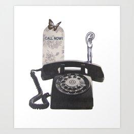 Call Now! Art Print