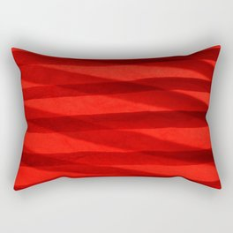 Scarlet Shadows Rectangular Pillow