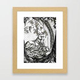 Lovers in the ruins Framed Art Print