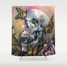 Laughing Skull Shower Curtain
