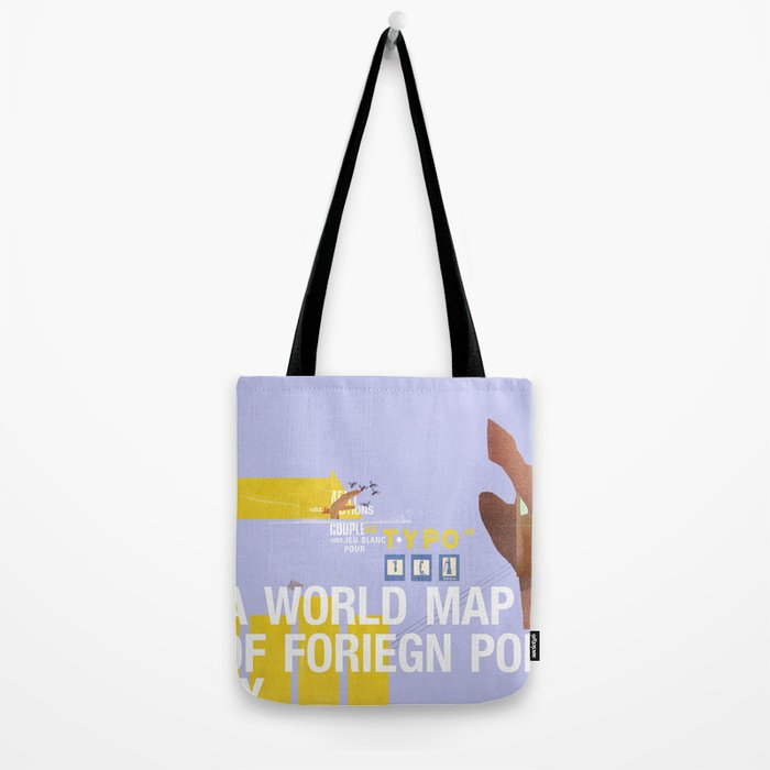 A World Map of Foreign Policy (book jacket cover) Tote Bag