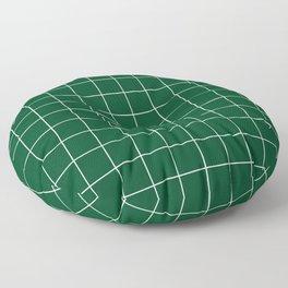 Grid Pattern Forest Green White 014421 Stripe Line Minimal Stripes Lines Floor Pillow
