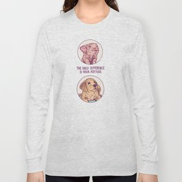 Puppy and Piggy Color Long Sleeve T-shirt