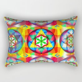 Three Six Nine - The Sacred Geometry Collection Rectangular Pillow