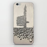 borderlands iPhone & iPod Skins featuring Borderlands by Andre Rocha Illustration