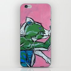 Flailing Pig Man by Amos Duggan iPhone & iPod Skin