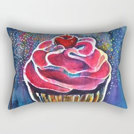 Rainbow Cupcake Rectangular Pillow
