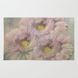Soft Painted Daisies Abstract Rug