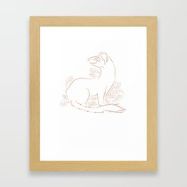 Mustela Frenata Framed Art Print