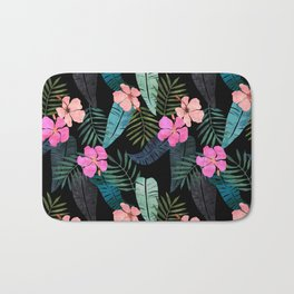 Island Goddess Tropical Black Bath Mat