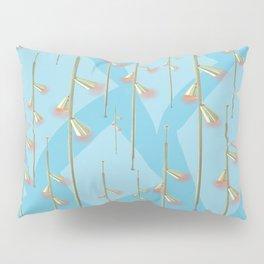 Mid Century Illumination - Gold Blue and Pink Palette Pillow Sham