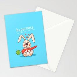 Happy bunny Stationery Cards