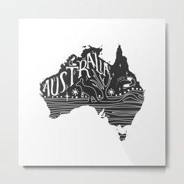 Australia map typo doodle Metal Print