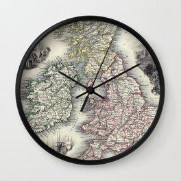 The British Isles - Tallis - 1851 Wall Clock
