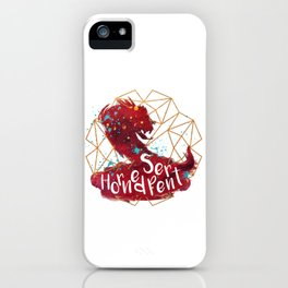 Horned Serpent iPhone Case