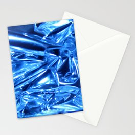 Chrome Folds with a blue Touch Stationery Cards