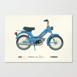 Motorbike Automatic 3 MS - Tomos Canvas Print