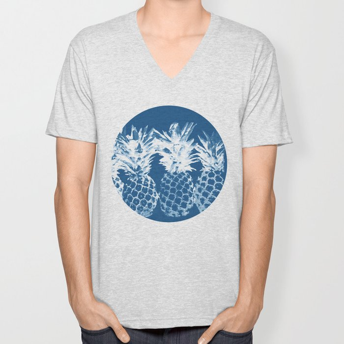 Pineapple blues Unisex V-Neck