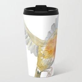 Robin in Flight Watercolor Travel Mug