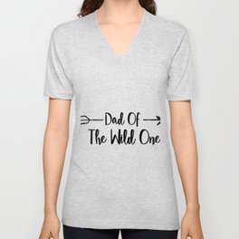 Dad Wild One Fuuny Fathers Day Gifts Unisex V-Neck