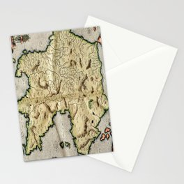 Vintage Map of Peloponnese (1596) Stationery Cards