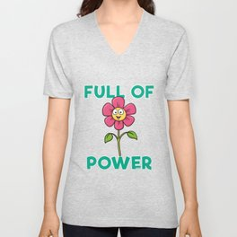 Flower Power power power plant fertilizer garden Unisex V-Neck
