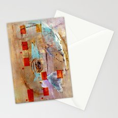 abstract in beige Stationery Cards