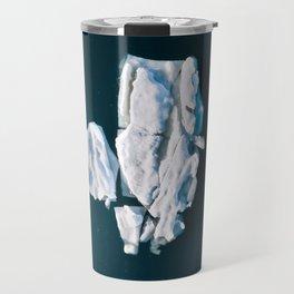 Lone, minimalist Iceberg from above - Landscape Photography Travel Mug