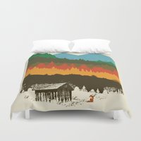 hunting Duvet Covers featuring Hunting Season by dan elijah g. fajardo