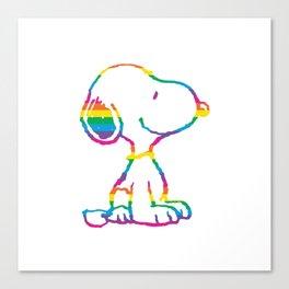 Snoopy Rainbow Canvas Print