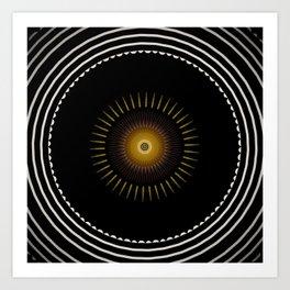 Modern decorative Black and White Mandala Art Print