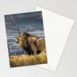 Roaring African Lion Stationery Cards