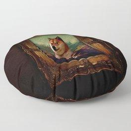 Doge Mona Lisa Fine Art Shibe Meme Painting Floor Pillow