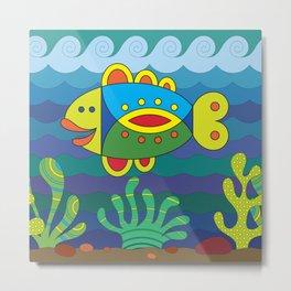 Stylize fantasy fish under water Metal Print