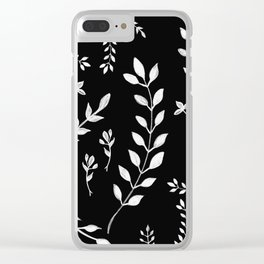 White Leaves Pattern #3 #drawing #decor #art #society6 Clear iPhone Case