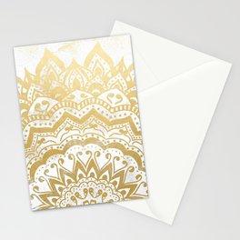 GOLD ORION JEWEL MANDALA Stationery Cards