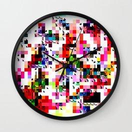 Grayson. Mixed media artwork. Wall Clock
