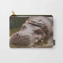 Huge bored Hippopotamus Carry-All Pouch