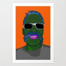 Mr Pickel Buff Art Print