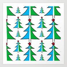 Christmas Tree Pattern Art Print